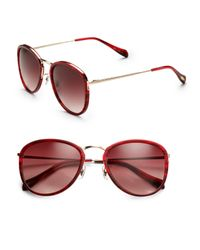 Oliver Peoples - Red J Gold Plastic Overlay Metal Sunglasses - Lyst