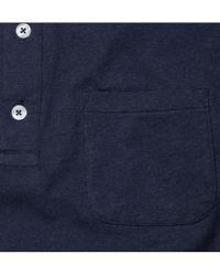 Oliver Spencer - Blue Navy Jersey Polo Shirt for Men - Lyst