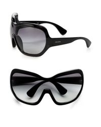 Prada | Yellow Illusion Ski Mask-inspired Sunglasses | Lyst