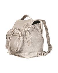 TOPSHOP | Gray Grey Large Washed Backpack | Lyst