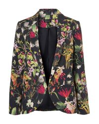 TOPSHOP - Multicolor Moto Colourbock Denim Jacket - Lyst