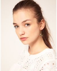 ASOS Collection - Metallic Asos Open Heart and Swallow Earrings - Lyst