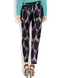 MICHAEL Michael Kors - Multicolor Ikat-print Silk-blend Pants - Lyst