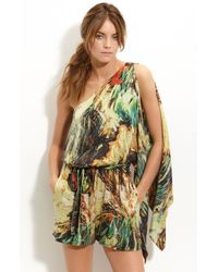 Robert Rodriguez | Multicolor One Shoulder Printed Silk Jumpsuit | Lyst