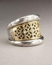 Konstantino - Metallic Lattice Diamond Ring - Lyst