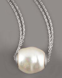 Majorica | White Baroque Pearl Pendant Necklace | Lyst