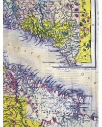 Carven   Blue Map-print Tank Top   Lyst