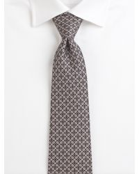 Ferragamo - Black Printed Silk Tie for Men - Lyst