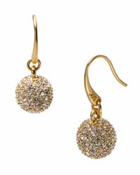 Michael Kors | Metallic Golden Fireball Drop Earrings | Lyst