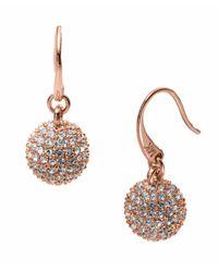 Michael Kors | Metallic Rose Golden Fireball Drop Earrings | Lyst