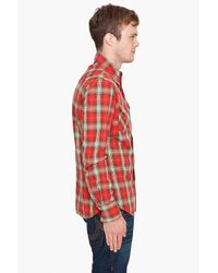 True Religion | Red Flannel Mick Western Shirt for Men | Lyst