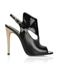 Camilla Skovgaard | Black Leather Slingback Sandals | Lyst