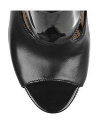 Camilla Skovgaard   Black Leather Slingback Sandals   Lyst