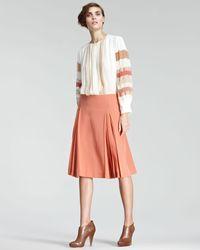 Chloé | Brown Crepe De Chine Aline Skirt | Lyst
