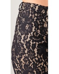Robert Rodriguez - Black Lace Knee Shorts - Lyst