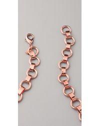 DANNIJO - Metallic Medine Bib Necklace - Lyst