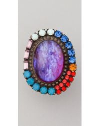 DANNIJO | Multicolor Lila Ring | Lyst