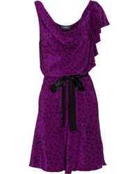 Gryphon | Purple Belle Printed Mini Dress | Lyst
