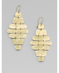 Ippolita | Metallic 18k Yellow Gold Crinkle Cascade Earrings | Lyst