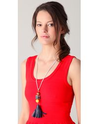 Juicy Couture - Blue Tassel Necklace - Lyst