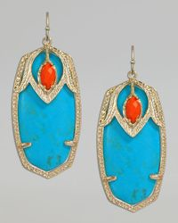 Kendra Scott | Blue Darby Shield Earrings | Lyst