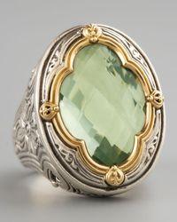 Konstantino | Green Amethyst Clover Ring | Lyst