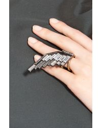 Lanvin | Metallic Left Eagle Wing Ring | Lyst