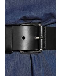 Boutique Moschino - Blue Belted Denim One-shoulder Dress - Lyst