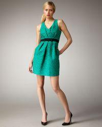 Shoshanna | Green Floral Jacquard Dress | Lyst