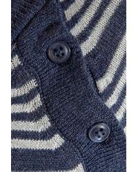 Splendid - Blue Striped Knitted Cardigan - Lyst