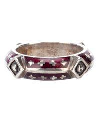 Tobias Wistisen   Metallic Silver Motif Ring for Men   Lyst