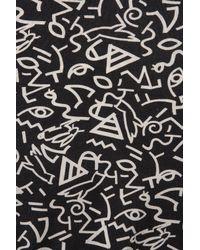 TOPSHOP | Black Petite Printed V-neck Blouse | Lyst