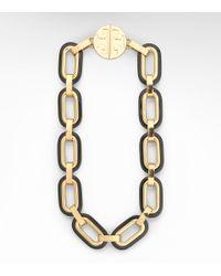 Tory Burch | Black Heidi Link Necklace | Lyst