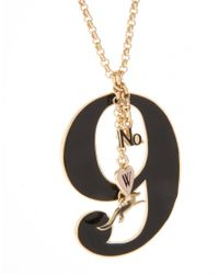 Wildfox - Metallic Gold Lucky Number 9 Pendant Necklace - Lyst