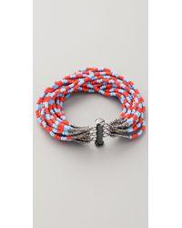 Bluma Project | Blue Tribal Stripe Bracelet | Lyst