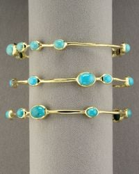 Ippolita - Blue Nine-station Turquoise Bangle - Lyst