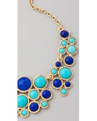 Kenneth Jay Lane - Blue Bib Necklace - Lyst