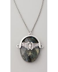 Low Luv by Erin Wasson - Metallic Labradorite Afghani Toggle Necklace - Lyst