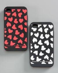 Marc By Marc Jacobs | Black Wild Hearts Iphone 4 Cover | Lyst