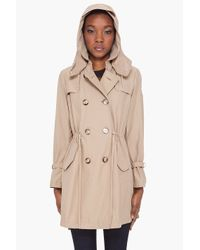 Moncler - Natural Tariec Drawstring Trench Coat - Lyst