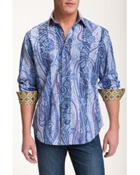 Robert Graham | Black Finn Maccool Digital-print Sport Short for Men | Lyst
