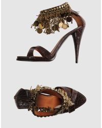 Givenchy | Brown High Heeled Sandals | Lyst