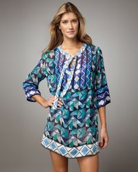 Gottex | Blue Virginia Geometric-print Coverup | Lyst