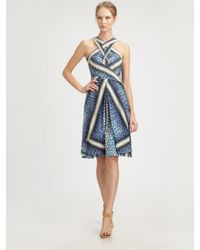 Peter Pilotto - Blue Silk Dress - Lyst