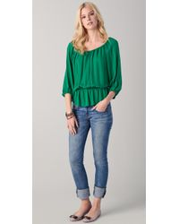 Joie - Green Jefferson Blouse - Lyst