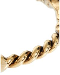 Low Luv by Erin Wasson | Metallic X Erin Wasson Rope Twist And Horse Hoof Bangle | Lyst