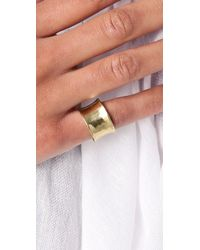Mettle - Metallic Concave Ring - Lyst