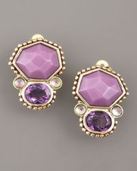 Stephen Dweck | Purple Amethyst Piggy Back Clip-on Earrings | Lyst
