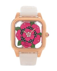 Betsey Johnson | Pink Lots N Lots Of Time Flower Dial Watch | Lyst