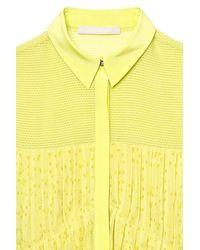 Jason Wu   Yellow Sleeveless Pleated Blouse   Lyst